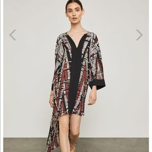 BCBG Abstract Chevron High Low Dress